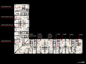 New build housing flats , floor plan